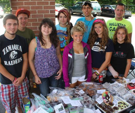 Pictured during a recent bake sale benefit for the park from front left are Dart Jones, Ashley Matalavage, Rachael Jones, Tanisha Farber and Randi-Lynn Frocie. From back, left are Vice President Alex Boyer, Amber Jones, secretary James Deem and…