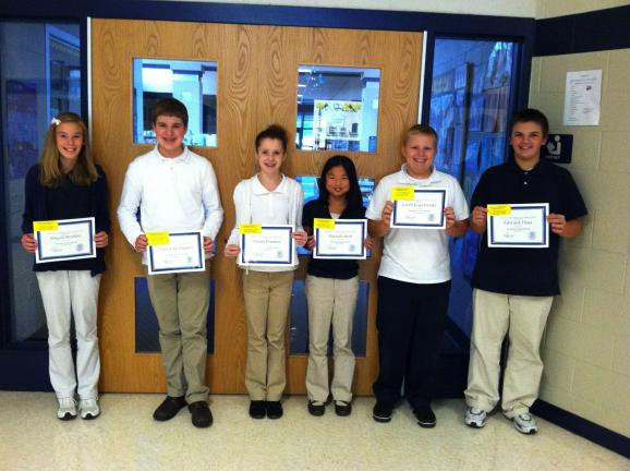 Tamaqua MS Students of the Month