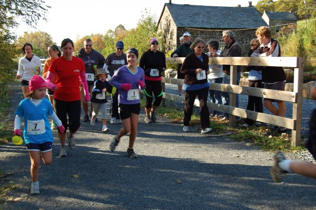The two-mile Scamper began at 9 a.m. on the D&L Trail.