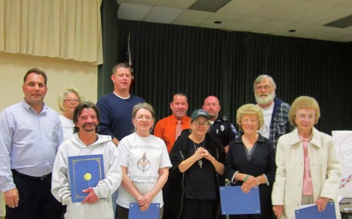 HEATHER BACSICK/SPECIAL TO THE TIMES NEWS The Jim Thorpe Community Watch held its last meeting for the year. Certain members of the Community Watch received awards of recognition for their hard work. The Mayor of Jim Thorpe and members of the Jim…