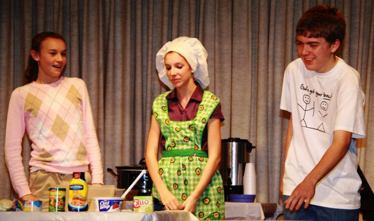 ANDREW LEIBENGUTH/TIMES NEWS Pictured performing are Chelsea Frantz, left, Arienne Serniak, center, and Christian Gardiner.