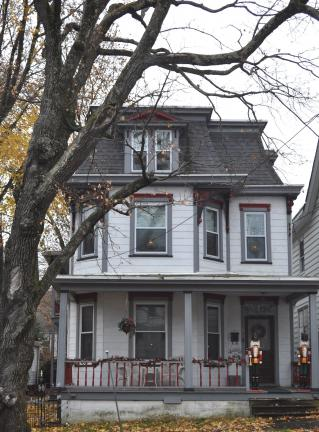 DONALD R. SERFASS/TIMES NEWS The Lucetta Harlan House, 206 N. Lehigh St., Tamaqua, will open its doors along with several other homes on Saturday, Dec. 3, during the 16th Annual Tamaqua Spirit of Christmas Festival.