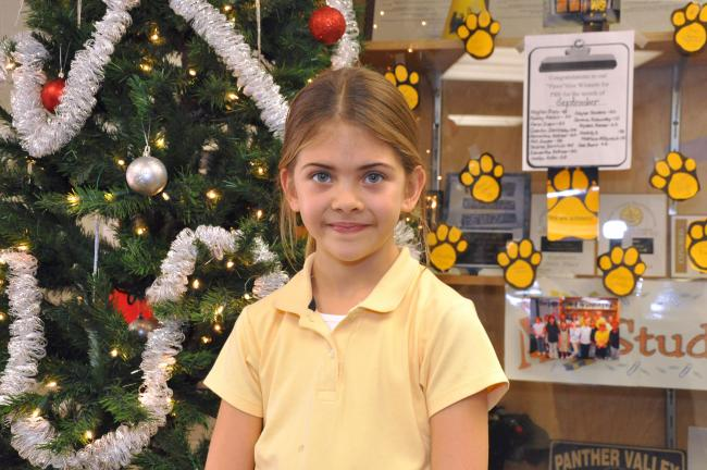 Brielle Gosslin, second grade, Panther Valley
