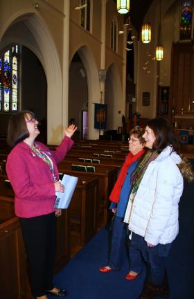 ANDREW LEIBENGUTH/TIMES NEWS Members of the Zion Evangelical Lutheran Church in Tamaqua are trying to keep history alive for all area churches by starting a tour program at their church. The tours would involve many aspects concerning the history,…
