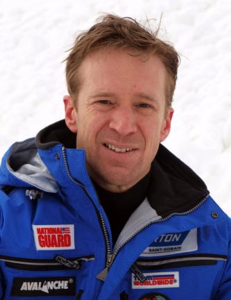 AL ZAGOFSKY/SPECIAL TO THE TIMES NEWS Gordy Sheer, luge doubles silver medal winner in the 1998 Olympics designed the new luge course at Blue Mountain Ski Area, the only natural luge course on the East Coast.