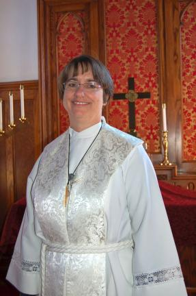 LINDA KOEHLER/TIMES NEWS The Rev. Suzanne Brooks-Cope is the new Stated Supply pastor at St. Matthew's UCC in Kunkletown.