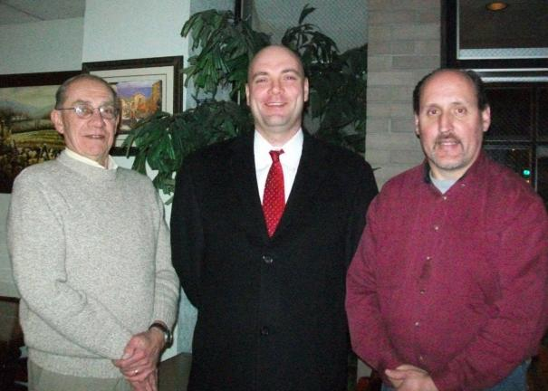SPECIAL TO THE TIMES NEWS New Officers of the Lehighton Area Democratic Club include Jesse Walck, center, President, Duane Watson, right, Secretary, and John Wieczorek, left, Treasurer.