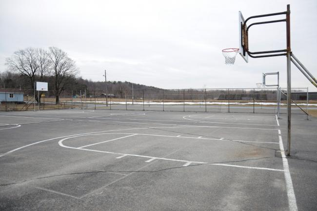 RON GOWER/TIMES NEWS The basketball courts next to the Ginder Field in Summit Hill will be replaced, according to Monica Marshall, president of the Summit Hill Recreation Commission. There will be two new courts built, as well as three smaller…