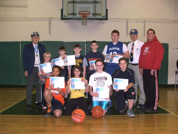 MICHAEL A. HEERY/SPECIAL TO THE TIMES NEWS Damien Council # 598 of the Knights of Columbus recently held the local 2012 Knights of Columbus Free Throw Championship at Saint John Neumann Regional School in Palmerton. Pictured front row left…