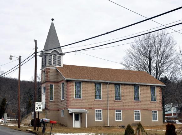 DONALD R. SERFASS/TIMES NEWS It looks like a church, but it isn't one, and never was. The building along Grier Avenue in Grier City is the historic 1885 Union Sabbath School, a facility in need of support from a new wave of volunteers.