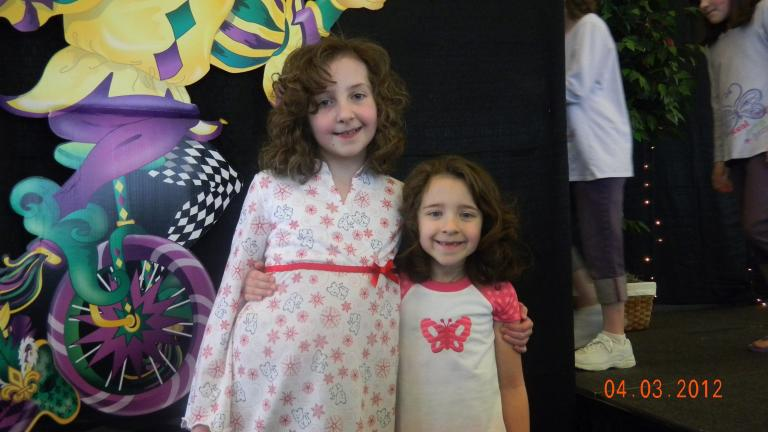 Devyn and Kira Hauser, daughters of Bill and Lisa Hauser, appeared in the Lehigh Valley Junior League American Girl Fashion Show this past weekend modeling fashions of yesterday and today.