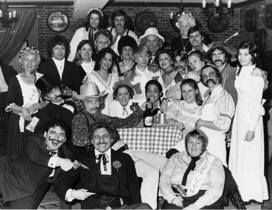 The Curtain Call Players' 1975 cast of 'Deadwood Dick.' The Panther Valley theater troupe staged large, madcap productions.