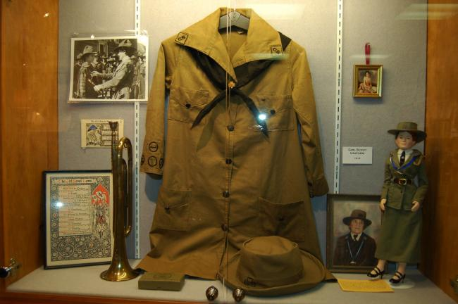 Gail Maholick/TIMES NEWS This a uniform a Girl Scout wore in 1919. The uniform is in near pristine condition.