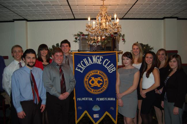 LINDA KOEHLER/TIMES NEWS The Palmerton Exchange Club recognized 10 Palmerton Area High School students who are considered to be well-rounded. They are, front, left to right: John Achtermann, Brandon Smale, Sierra Miller, Vanessa Evans, Alexandrea…