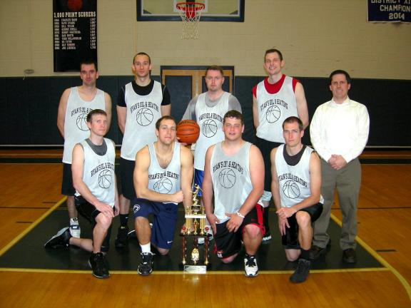 Ryan's Oil & Heating captured its third straight ESRC Winter Basketball League Championship with a 71-66 victory over R.R. Frey Services on Wednesday evening at the Tamaqua Area Athletic Center. Members of the championship team include front row,…