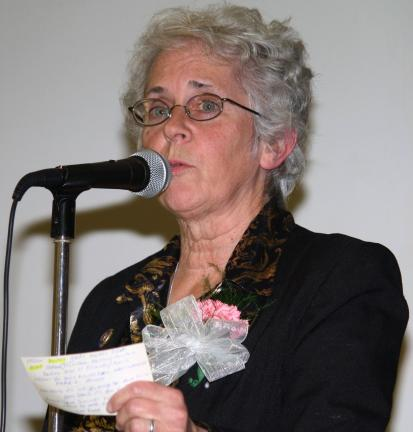 "ANDREW LEIBENGUTH/TIMES NEWS ""It's not so much the hand you've been dealt, it's how you play the cards,"" Fran Stahl told the audience at the Tamaqua Area Community Dinner."