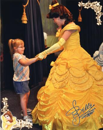 Rachel Rello, 9, of Slatington, has a private dance with Disney Princess Belle at Disney World. She was the recipient of a dream by Dream Come True - Blue Ridge Chapter.
