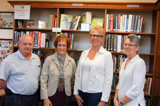 TERRY AHNER/TIMES NEWS Members of the Palmerton Area Library Board of Directors include (l-r) Jack Woginrich, golf committee chairman, Susan Choy, board member, Susan Debski, board member, and Diane Danielson, library director.