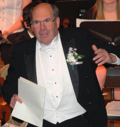 ANDREW LEIBENGUTH/TIMES NEWS The orchestra was under the direction of John F. Potlunas, who retired last year as director of the Tamaqua band program.