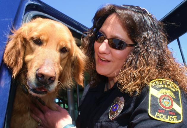 Argus and his handler, Officer Melissa Moyer, have spent the past five years serving and training together.