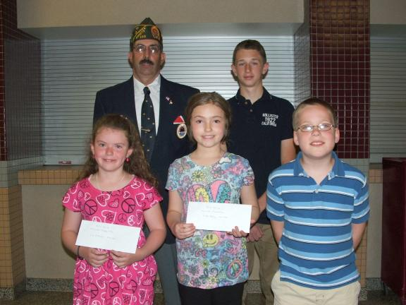 MICHAEL A. HEERY, SPECIAL TO THE TIMES NEWS Representing Lehighton AMVETS - Elwood Miller Post 106 - Commander Robert Rehnert recently recognized the winners of the 2011 - 2012 Americanism Contests. Pictured front row, left to right, are third grade…