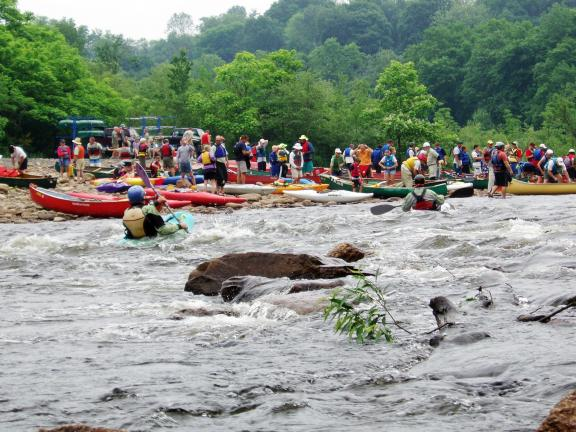 AL ZAGOFSKY/FILE PHOTO After a Saturday on whitewater, the Lehigh Sojourn turns to canoes and kayaks, traveling the meandering sections of the Lehigh River. The 2012 Lehigh River Sojourn runs June 22-25. Registration information is available at www…