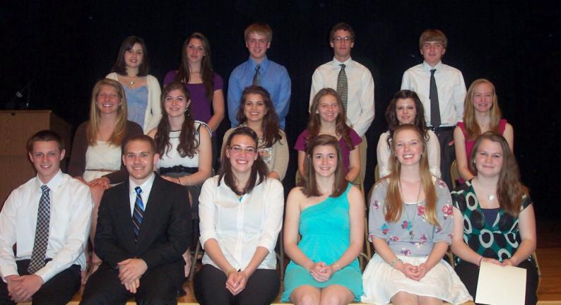 SPECIAL TO THE TIMES NEWS The Tamaqua Area High School chapter of the National Honor Society recently held an induction ceremony for 31 new members. NHS members include: (first row) Jacob Fegley, Anthony Iacoviello, Jennifer Kabana, Chelsey…