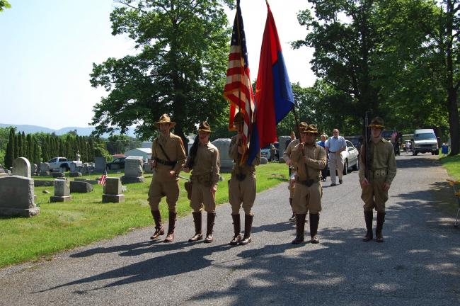 Reenactors of the 26th Cavalry, 12th Phillipine Division joined the Slatington Memorial Day parade.