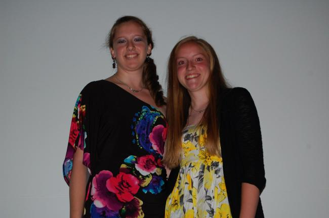At the Pleasant Valley High School Academic Awards night it was announced that, left, Marissa Gray is the PV Class of 2012 Salutatorian and Lauren Heckelman, right, is the 2012 Valedictorian.