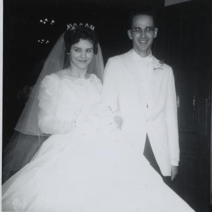 Mr. and Mrs. Charles H. Leinthall on their wedding day.