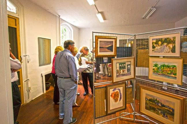 SPECIAL TO THE TIMES NEWS Above and below, the Carbon County Art League hosted its 31st annual Art Show at the Anita Shapolsky Art Foundation in Jim Thorpe over the weekend.