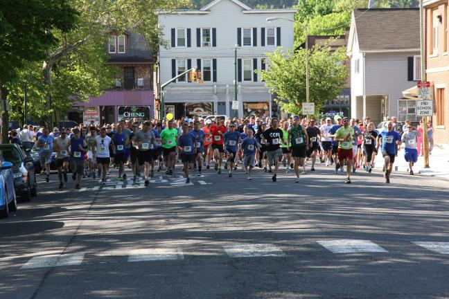 Special to the TIMES NEWS Ready, set, go! Participants compete in the 11th annual Blue Mountain Health System 5K Run/Walk held recently in Palmerton.