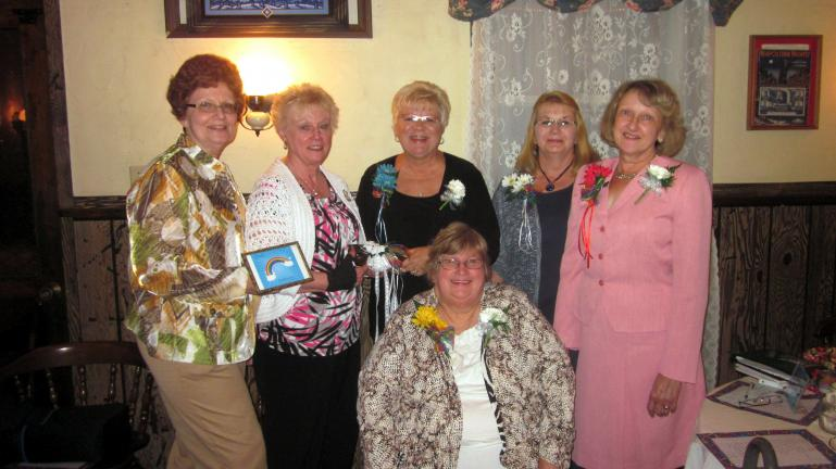 SPECIAL TO THE TIMES NEWS During the 45th anniversary dinner of the Nesquehoning Woman's Club, held at the Normal Square Inn, installation of new officers was held. Conducting the swearing in program was former president Valerie Higgins, standing at…