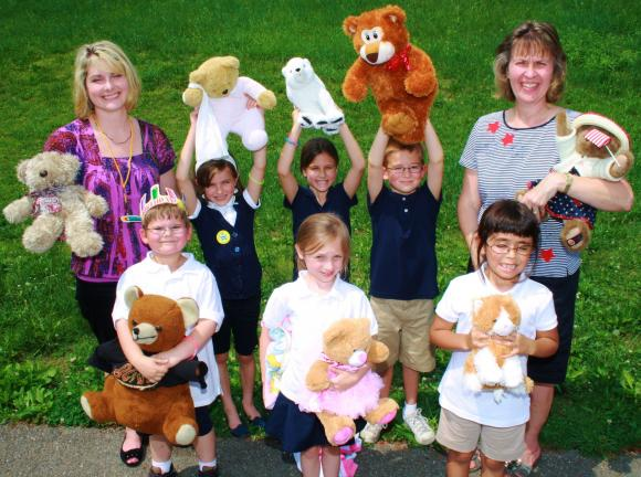 ANDREW LEIBENGUTH/TIMES NEWS Teddy Bear picnic held at West Penn Elementary Students and their teachers enjoyed their annual Teddy Bear Picnic recently outside the West Penn Elementary School. Pictured from back left are first grade teacher Mrs…