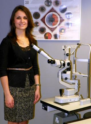 SPECIAL TO THE TIMES NEWS Dr. Angela Burda received her undergraduate degree from Misericordia University and recently received her Doctorate in Optometry from the Pennsylvania College of Optometry at Salus University in Elkins Park.