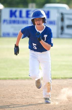 TIMES NEWS FILE PHOTO Tamaqua's Riley McHugh, seen here in action in the District 11-12 tournament, hit a two-run single to help spark a six-run first inning in a win on Tuesday over Valley East.