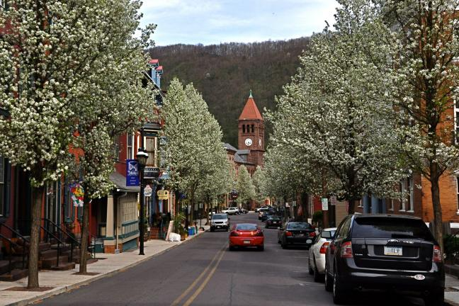 TIMES NEWS FILE PHOTO Jim Thorpe's Broadway in the springtime.