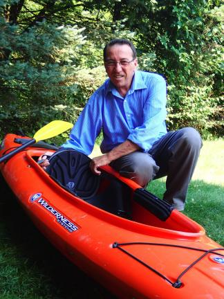 AL ZAGOFSKY/SPECIAL TO THE TIMES NEWS Kidney transplant recipient Larry Rafes is getting ready for the adventure of a lifetime, a 200-mile kayaking trip from the Lehigh River to the Atlantic Ocean to celebrate the miracle of his restored health and…