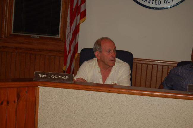 TERRY AHNER/TIMES NEWS Palmerton Borough Council President Terry Costenbader voices his displeasure after a motion to not build a new fire station in the borough failed.