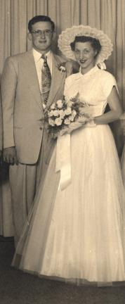 "Mr. and Mrs. Richard R. ""Chip"" Reed on their wedding day"