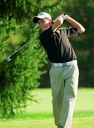 Bob Ford/TIMES NEWS Northwestern's Cole Miller competes in the postseason last year. This year the PIAA has divided golf into two classifications - AA and AAA.