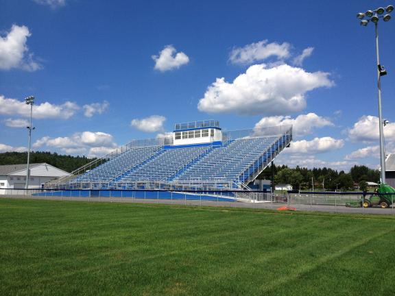Special to the TIMES NEWS The athletic field bleacher replacement project in the Palmerton Area School District.