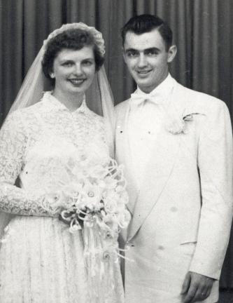 Mr. and Mrs. Peter Tirpak  on their wedding day.