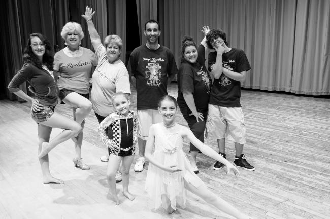 LINDA KOEHLER/TIMES NEWS Standing, left to right: Devina Fernandez, Gail Oldfield, Melody Kline, Jeffrey Fernandez, Debbie Kaintz, Jeffrey Fernandez, Jr. and front, Ava and Bree Fernandez, pose just before Melody's final recital. All performed,…