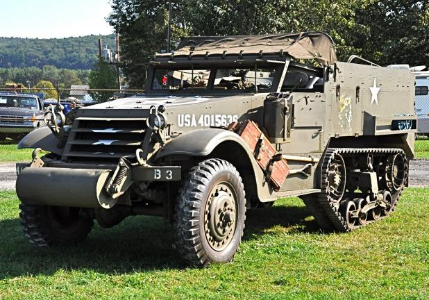 Victor Izzo/special to the times news Vintage military vehicles like this halftrack will be on display this Friday and Saturday at the West End Fairgrounds in Gilbert.