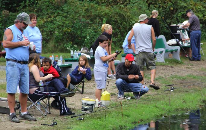 ANDREW LEIBENGUTH/TIMES NEWS Families came out over the weekend during the Kellner's Dam Association's first annual Autumn Kid's Fishing Derby. The free derby also included numerous prizes donated from a number of sponsors. The sponsors were…