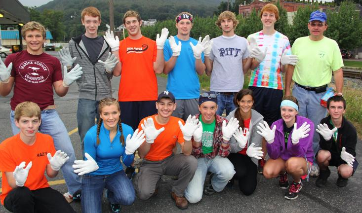 ANDREW LEIBENGUTH/TIMES NEWS Tamaqua High School students with Roseann Weinrich's Biology Club, as well as area volunteers, spent time recently during the Schuylkill Keep It Pretty (SKIP) cleanup held in Tamaqua. Some cleanup volunteers pictured…
