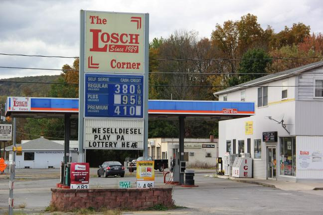ANDREW LEIBENGUTH/TIMES NEWS Police are looking for a man that used a long rifle to rob The Losch Corner (TLC) gas station in South Tamaqua Friday afternoon.