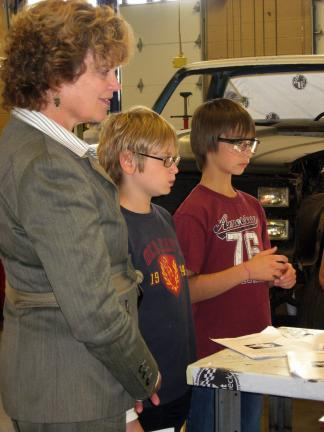 Pennsylvania First Lady Susan Corbett, left, recently toured the SHINE Career Academy at Carbon Career & Technical Institute (CCTI) in Jim Thorpe as part of her Opening Doors education initiative. While touring the classrooms she spoke with Raymond…