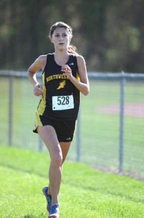 nancy scholz/times news Northwestern's Haley Yost was third overall in the Colonial League girls meet.